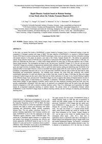 Rapid Disaster Analysis Based on Remote ... by Yang, C.H.