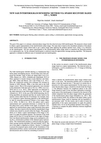 New Sar Interferogram Denoising Method V... by Ben Abdallah, W.