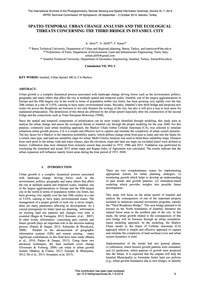 Spatio-temporal Urban Change Analysis an... by Akin, A.