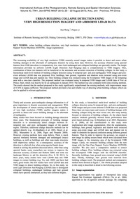 Urban Building Collapse Detection Using ... by Wang, X.