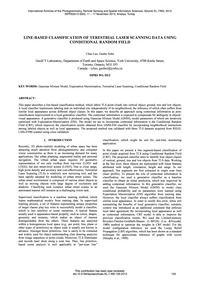 Line-based Classification of Terrestrial... by Luo, C.