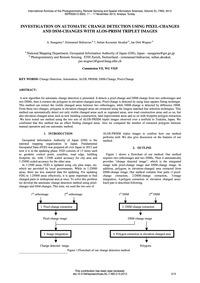 Investigation on Automatic Change Detect... by Sasagawa, A.