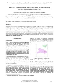 Inland-lakes Protection Application with... by Wen, X.