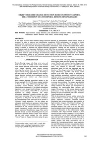 Object-oriented Change Detection Based o... by Liang, L.