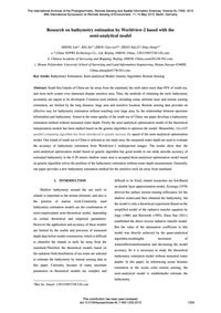 Research on Bathymetry Estimation by Wor... by Sheng, L.
