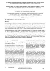 Hydrological Characterization of the Usu... by Tapia-silva, F.-o.
