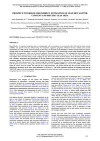 Prospect Inversion for Indirect Estimati... by Ali, A.