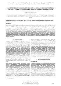 Catchment Properties in the Kruger Natio... by Baade, J.