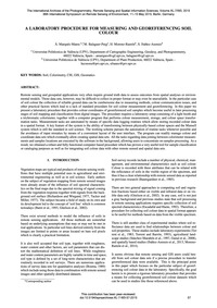A Laboratory Procedure for Measuring and... by Marqués-mateu, Á.