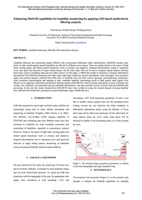 Enhancing Dinsar Capabilities for Landsl... by Beyene, F.
