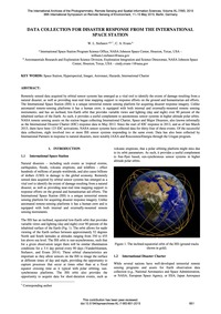 Data Collection for Disaster Response fr... by Stefanov, W. L.