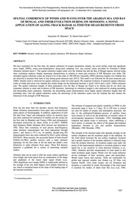 Spatial Coherence of Winds and Waves Ove... by Bhandari, S. M.