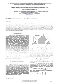 Epipolar Rectification for Cartosat-1 St... by Akilan, A.