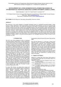 Development of a Web Geoservices Platfor... by Satheendran, S.