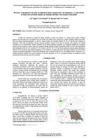 Spatial Variability of Soil Nutrients Us... by Tagore, G. S.