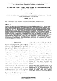 Hot Spot Detection and Spatio-temporal D... by Naish, S.