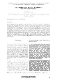 Evaluation of Trmm Precipitation Product... by Indu, J.