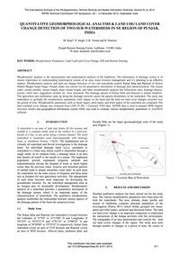 Quantitative Geomorphological Analysis &... by Kaur, M.