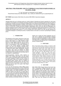 Spectral Stratigraphy and Clay Minerals ... by Das, I. C.