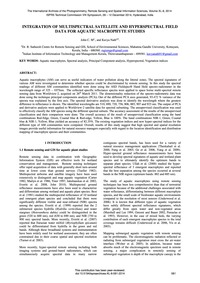 Integration of Multispectral Satellite a... by John, C. M.