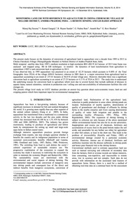 Monitoring Land Use with Reference to Aq... by Saxena, M. R.