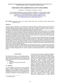 High Resolution Airborne Shallow Water M... by Steinbacher, F.