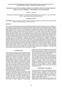 Building Analysis for Urban Energy Plann... by Krüger, A.