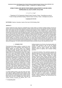 Structure Line Detection from Lidar Poin... by Lo, C. Y.