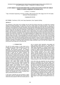 A New Object Based Method for Automated ... by Moussa, A.