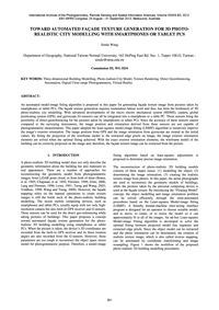 Toward Automated Façade Texture Generati... by Wang, S.