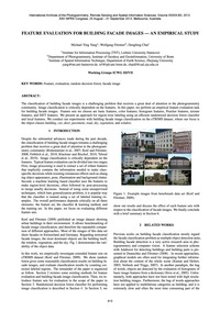 Feature Evaluation for Building Facade I... by Yang, M. Y.