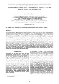 On Object Extraction Using Airborne Lase... by Nakano, K.