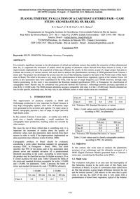Planialtimetric Evaluation of a Cartosat... by Barros, R. S.