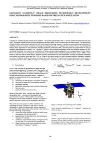 Satellite 'Canopus-v' Image Processing T... by Nekrasov, V. V.