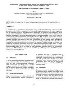 True 3D Images and Their Applications : ... by Wang, Z.