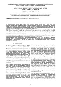 Removal of Tree Offsets from Srtm and Ot... by Gallant, J. C.