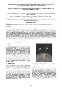 Digital Elevation Models and Derived Pro... by Burns, K. N.