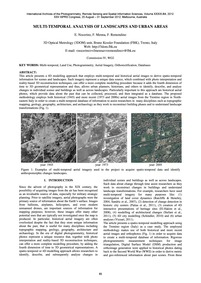 Multi-temporal Analysis of Landscapes an... by Nocerino, E.