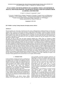 Evaluation and Development of E-learning... by Gülch, E.