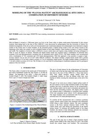 Modeling of the Plan Da Mattun Archaeolo... by Novák, D.