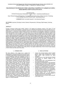 Transfer of Technology for Cadastral Map... by Kaczynski, R.
