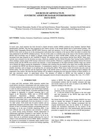 Sources of Artefacts in Synthetic Apertu... by Becek, K.