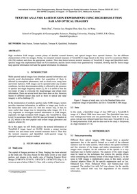Texture Analysis Based Fusion Experiment... by Zhao, S.