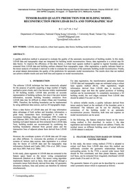 Tensor-based Quality Prediction for Buil... by Lin, B. C.