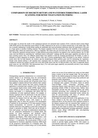 Comparison of Discrete Return and Wavefo... by Guarnieri, A.