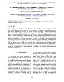 Sar Polarimetric Signatures for Urban Ta... by Vyas, A.