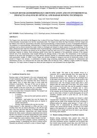 Yangon River Geomorphology Identificatio... by Lwin, A.