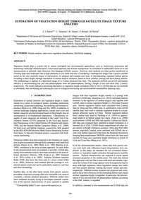 Estimation of Vegetation Height Through ... by Petrou, Z. I.