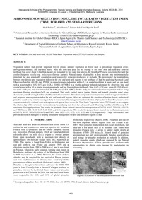 A Proposed New Vegetation Index, the Tot... by Fadaei, H.