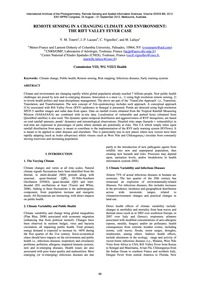 Remote Sensing in a Changing Climate and... by Tourre, Y. M.